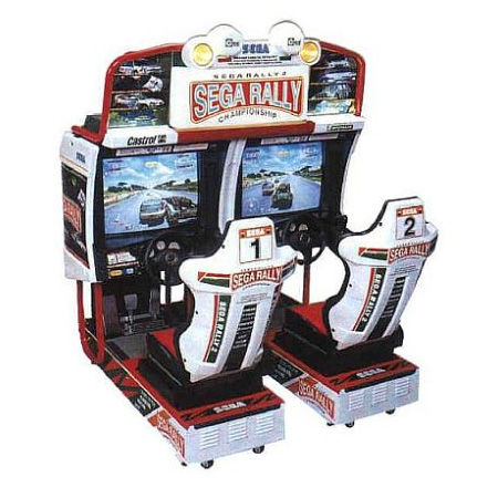 simulateur de conduite sega rally 2 double simulateur de voiture montanola jeux. Black Bedroom Furniture Sets. Home Design Ideas